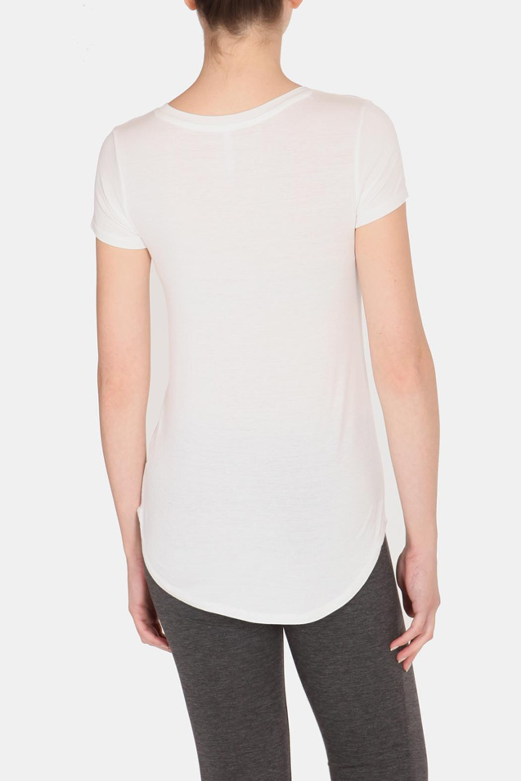 Color Thread Juniper Boyfriend Tee - Back Cropped Image