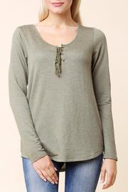 Color Thread Lace Up Top - Product Mini Image
