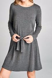Color Thread Tie Front Tunic - Product Mini Image