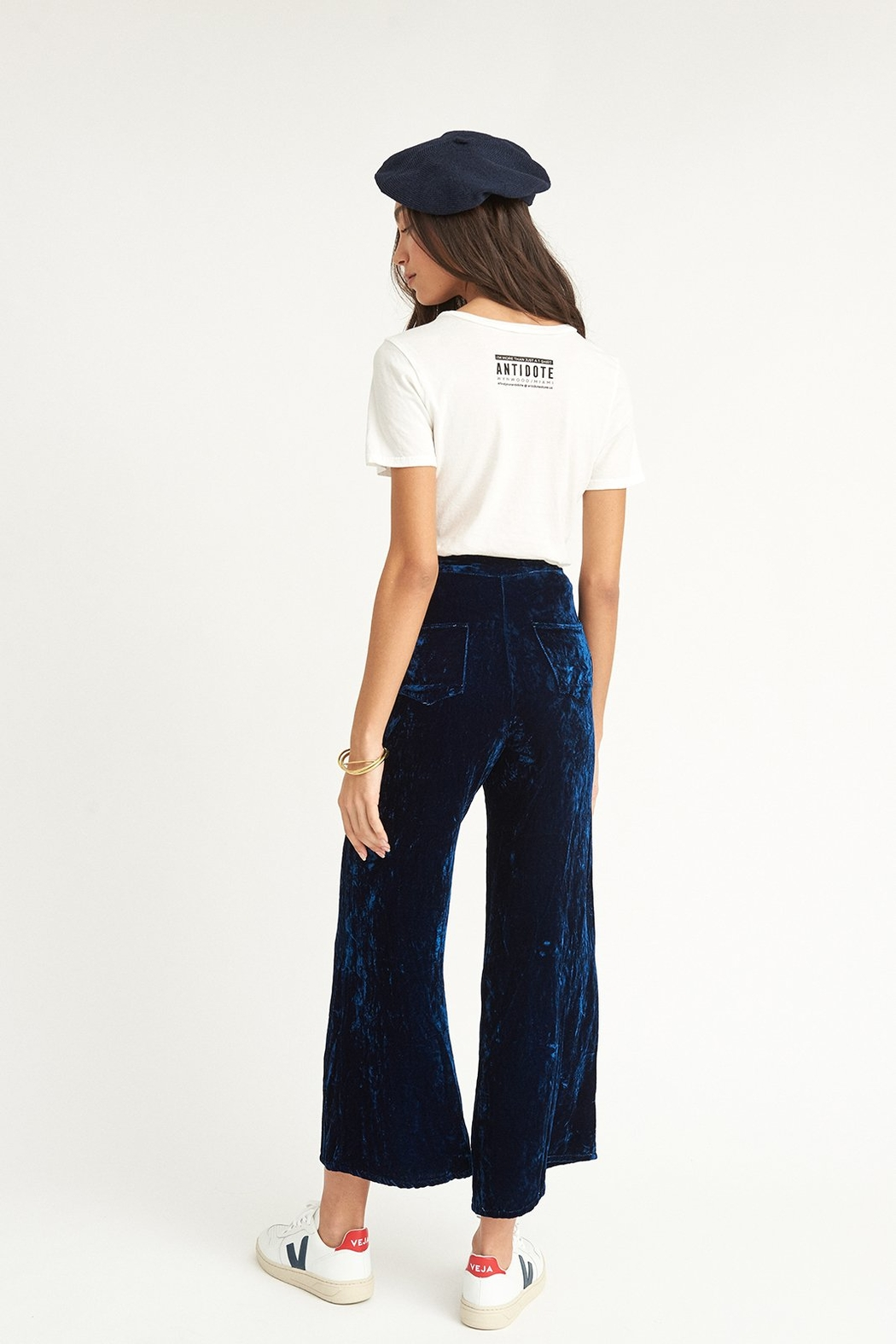 COLORANT High Waisted Pants - Side Cropped Image