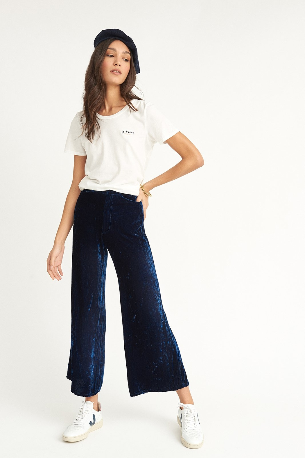 COLORANT High Waisted Pants - Front Full Image