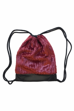 Shoptiques Product: Leather Drawstring Backpack