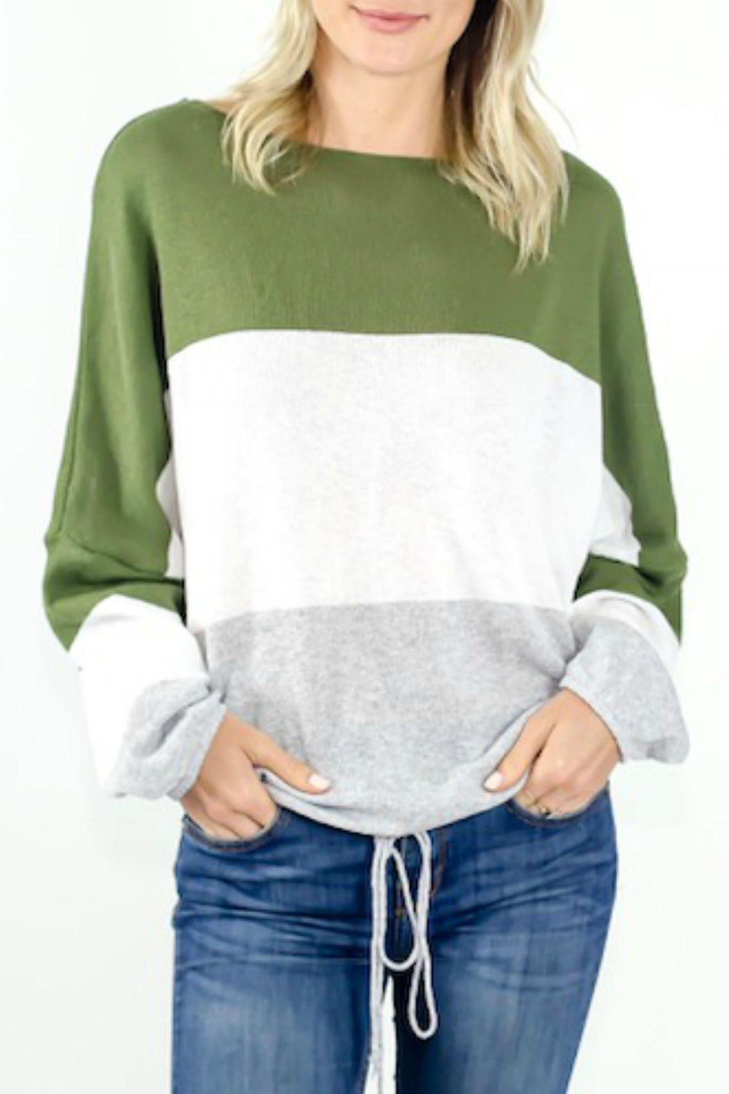 Six Fifty Colorblock Boat-neck Sweater - Main Image