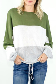 Six Fifty Colorblock Boat-neck Sweater - Front cropped