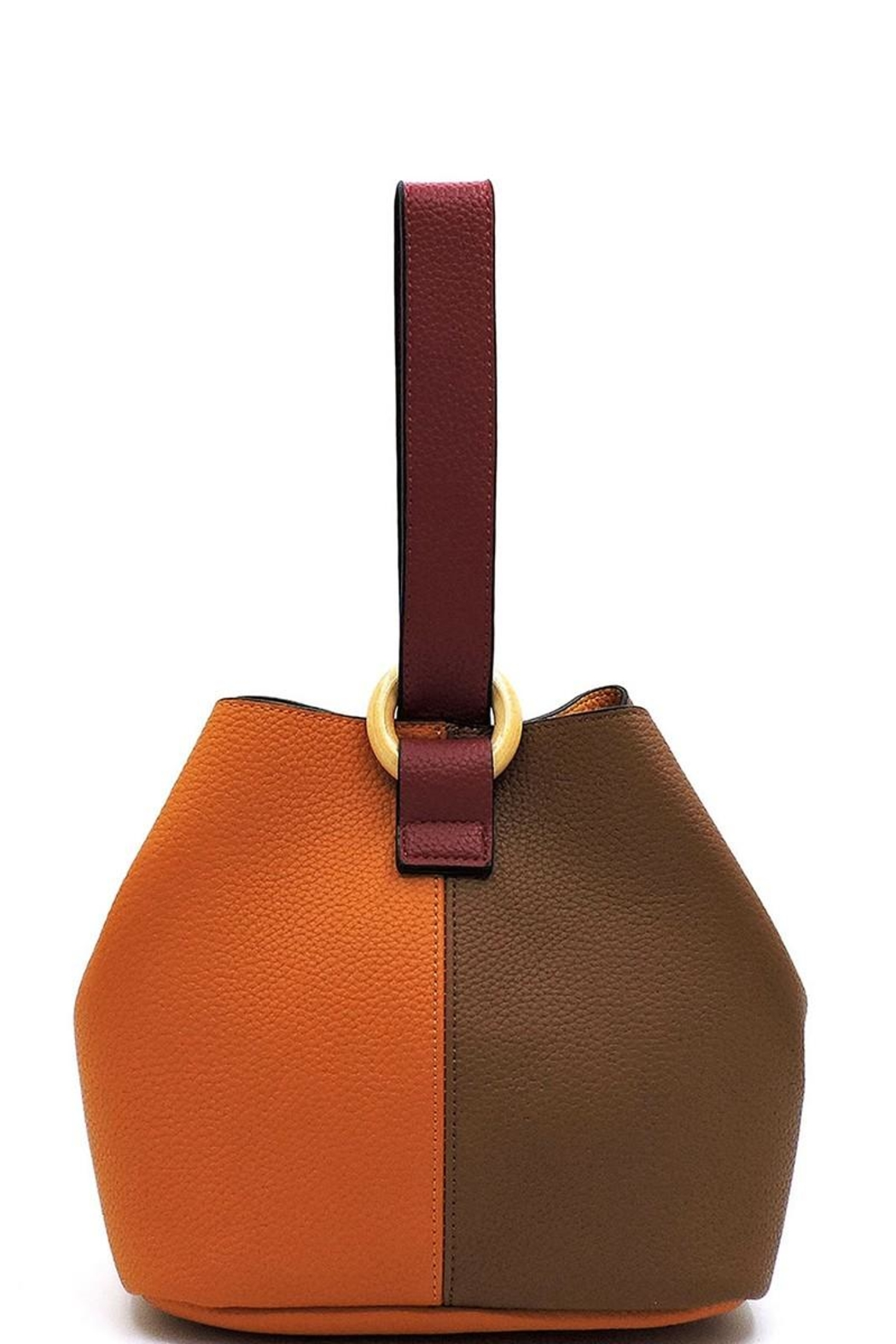 Marvy Fashion Boutique  Colorblock Bucket Bag - Front Cropped Image