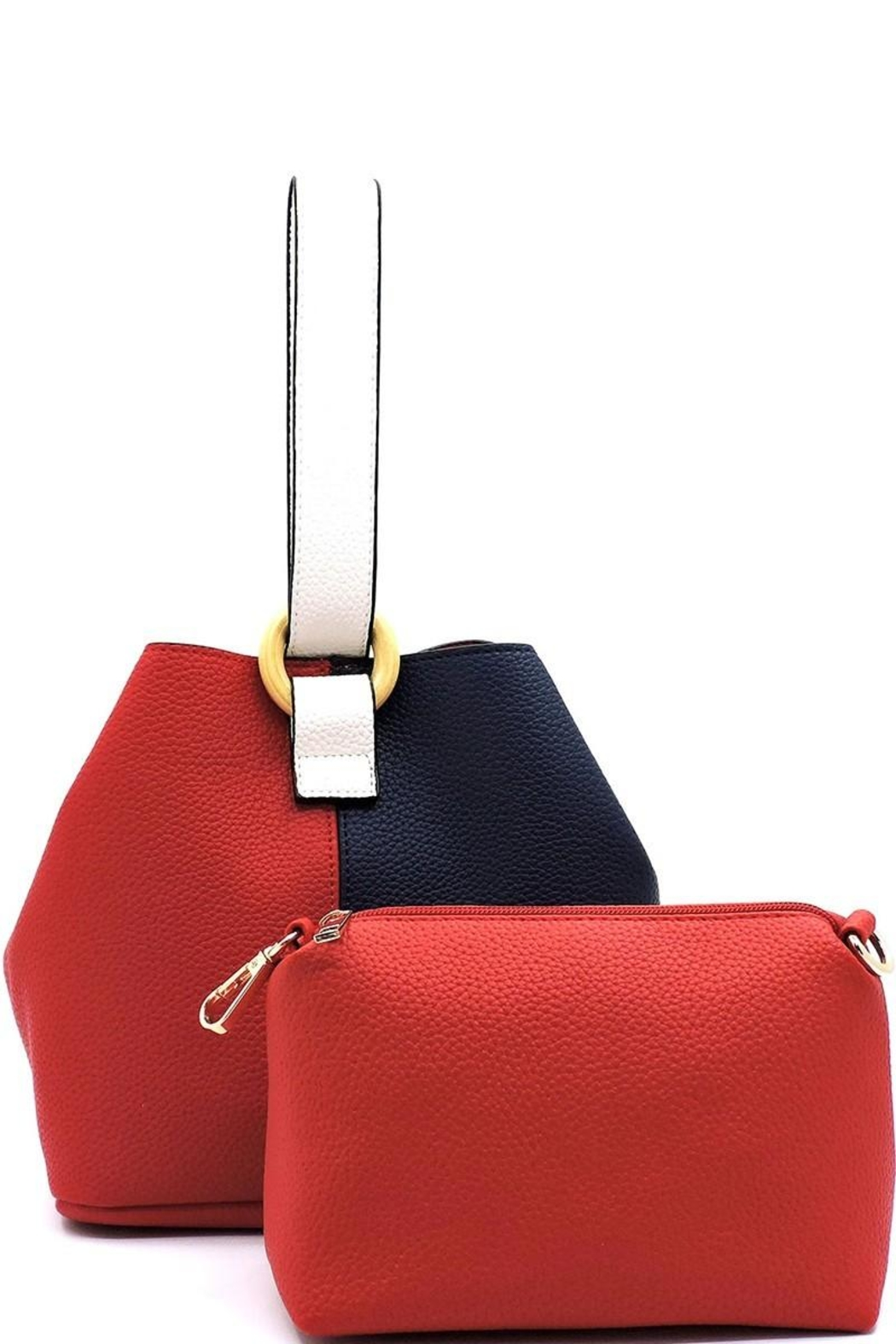 Marvy Fashion Boutique  Colorblock Bucket Bag - Front Full Image