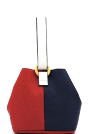Marvy Fashion Boutique  Colorblock Bucket Bag - Front cropped