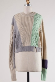 Le Lis Colorblock Cableknit Sweater - Product Mini Image