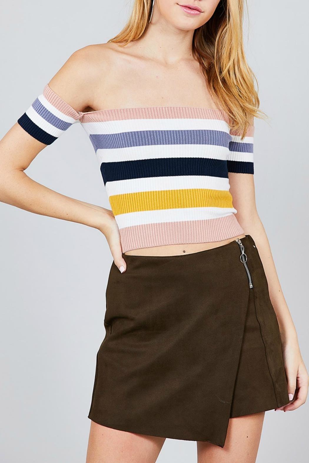 Pretty Little Things Colorblock Crop Top - Main Image