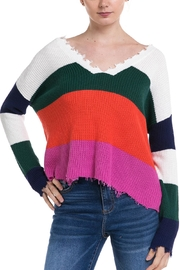 Fate Colorblock Distressed Sweater - Product Mini Image