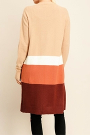 Miss Darlin Colorblock Duster Cardigan - Side cropped