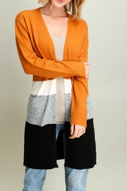 Miss Darlin Colorblock Duster Cardigan - Front cropped