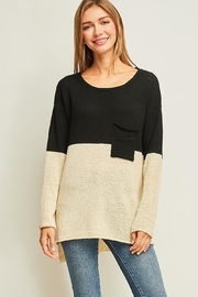 Entro Colorblock Hi-Low Sweater - Product Mini Image