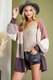 ee:some Colorblock Knit Open Front Sweater - Product Mini Image