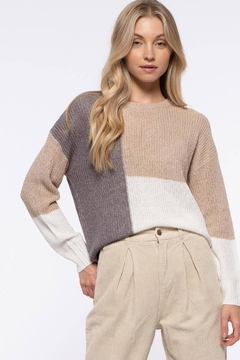 Mine Colorblock Knit Pullover - Product List Image
