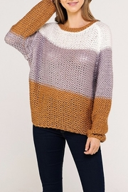 Newbury Kustom Colorblock Knit Sweater - Product Mini Image