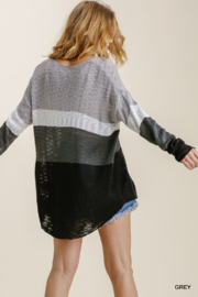 umgee  COLORBLOCK KNIT SWTR - Side cropped