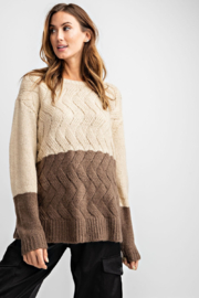 easel  Colorblock Knitted Sweater - Product Mini Image