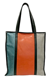 Leather Country Colorblock Leather Tote - Other