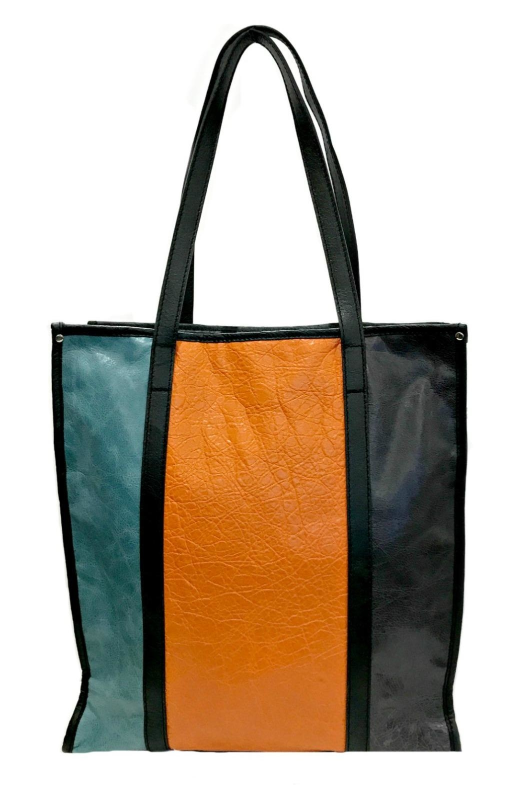 Leather Country Colorblock Leather Tote - Main Image