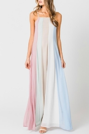 Pretty Little Things Colorblock Maxi Dress - Front cropped