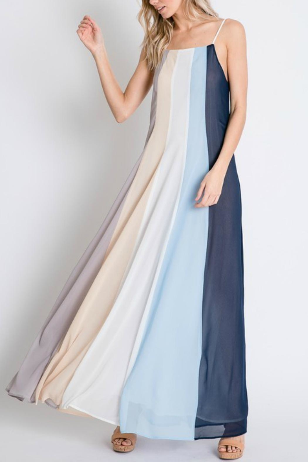 Pretty Little Things Colorblock Maxi Dress - Main Image