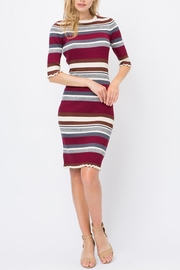 storia Colorblock Midi Dress - Product Mini Image