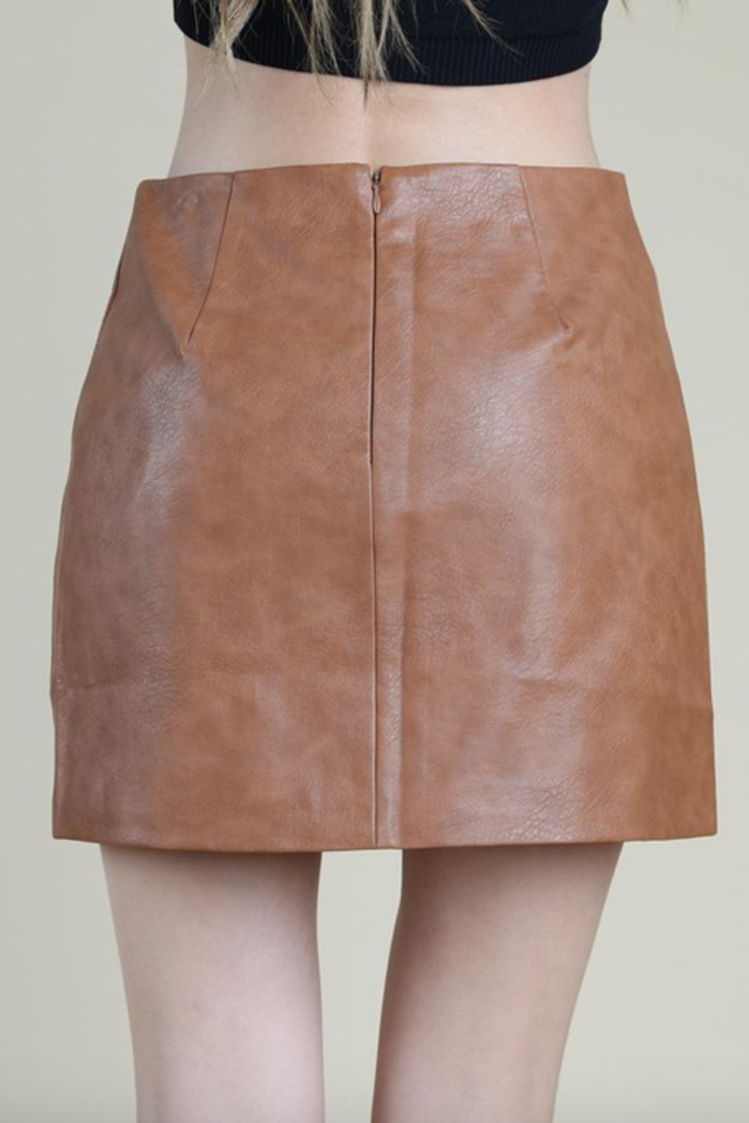 Honey Punch COlorblock Mini Skirt - Side Cropped Image