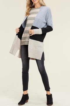 LuLu's Boutique Colorblock Open Cardigan - Product List Image