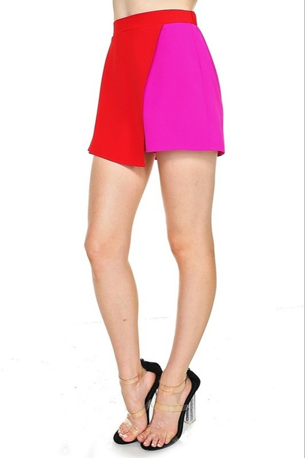 TCEC Colorblock Overlay Skort - Front Full Image