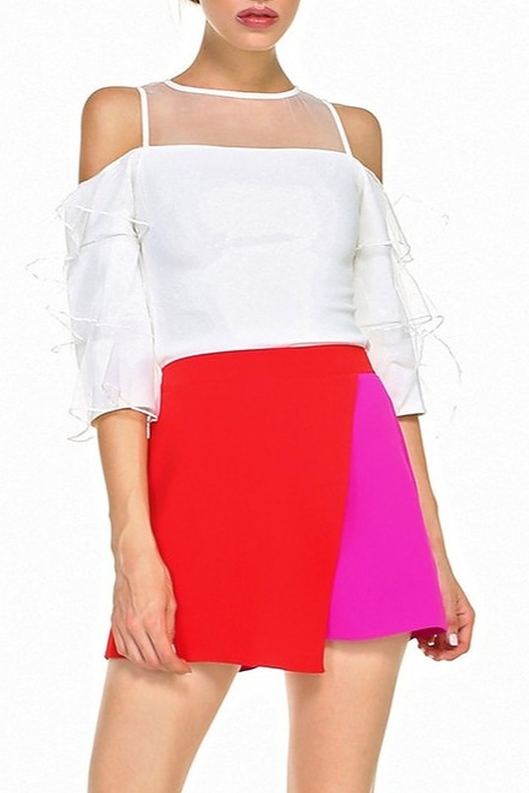 TCEC Colorblock Overlay Skort - Front Cropped Image