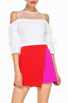 Shoptiques Product: Colorblock Overlay Skort