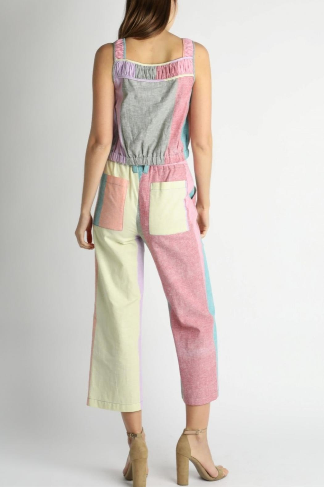 Current Air Colorblock Paperbag Pants - Front Full Image