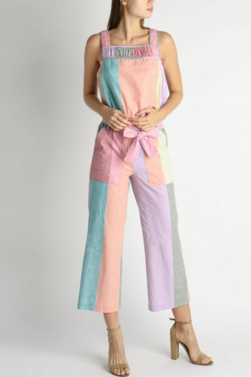 Current Air Colorblock Paperbag Pants - Side Cropped Image