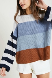 Pretty Little Things Colorblock Pullover Sweater - Product Mini Image