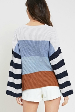 Pretty Little Things Colorblock Pullover Sweater - Alternate List Image