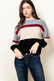 Thml Colorblock Striped Sweater - Product Mini Image