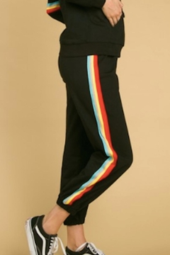 Honey Punch Colorblock Striped Sweatpants - Product List Image