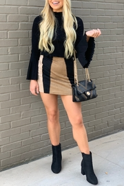 She + Sky Colorblock Suede Skirt - Product Mini Image