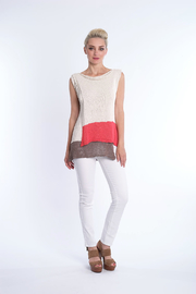 B&K moda Colorblock  Summer Sweater - Product Mini Image