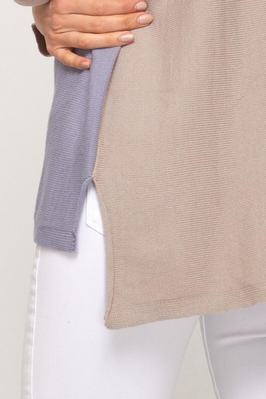 LuLu's Boutique Colorblock Sweater - Back Cropped Image