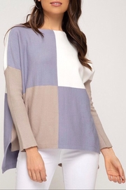 LuLu's Boutique Colorblock Sweater - Front cropped