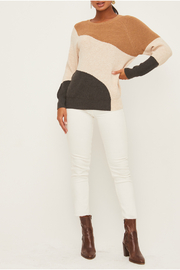 Lush  Colorblock Sweater - Front cropped