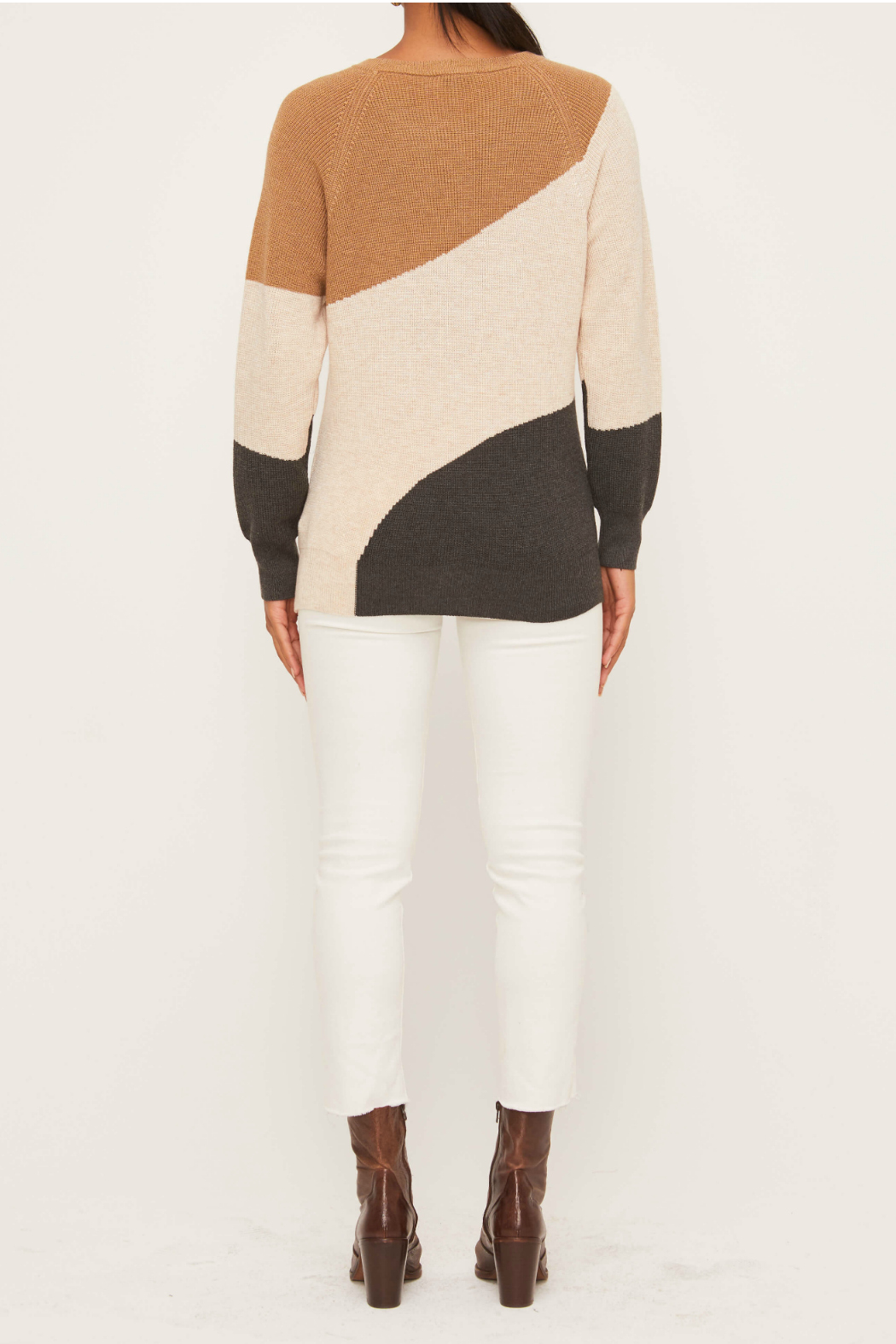 Lush  Colorblock Sweater - Front Full Image