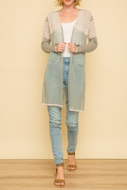 Mystree Colorblock Sweater Cardigan - Product Mini Image