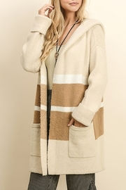 Dress Forum  Colorblock Sweater Cardigan - Front cropped