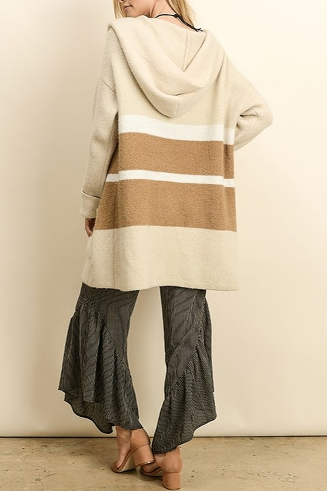 Dress Forum  Colorblock Sweater Cardigan - Side Cropped Image