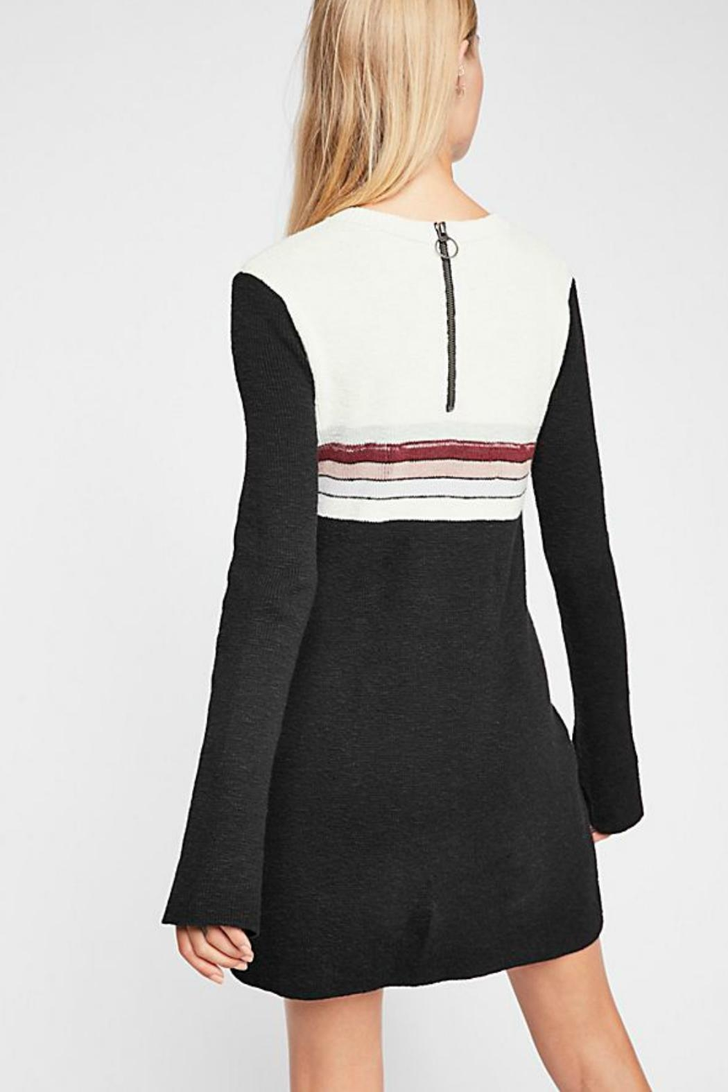 Free People Colorblock Sweater Dress - Front Full Image