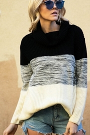 J.NNA Colorblock Turtleneck Sweater - Product Mini Image