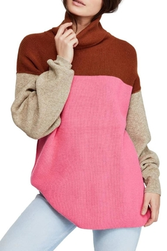 Free People Colorblock Turtleneck Sweater - Product List Image